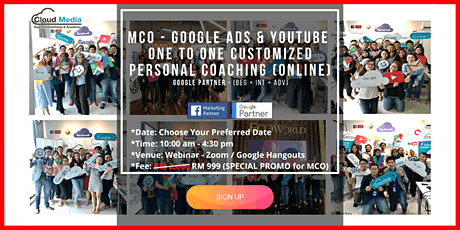 Google Partner - Google Ads & YouTube (Online One to One Coaching) tickets
