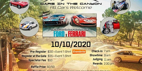 Cars in the Canyon tickets