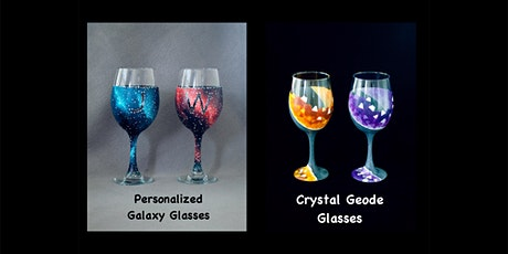 """SPECIAL PRICING """"Wine Glasses"""" Adult Open (18yrs+)""""Galaxy or Crystal Geode"""" tickets"""