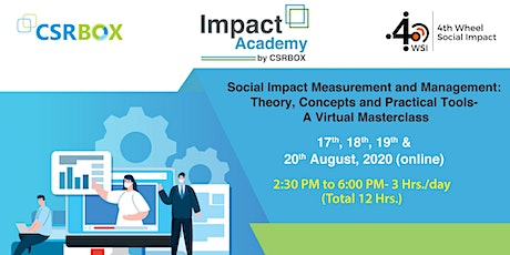 Virtual Masterclass: Social Impact Measurement and Management tickets