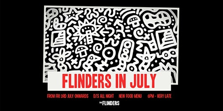 The Flinders - Sat 25th July 8.30pm-11.30pm tickets