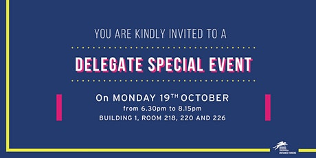 Delegate special event tickets
