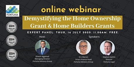 Demystifying the Home Ownership Grant & Home Builders Grants tickets