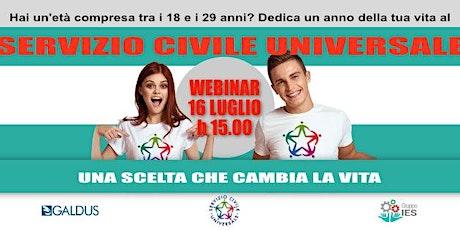 Webinar gratuito: Il servizio civile universale e il futuro dei giovani. biglietti