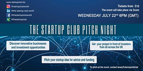 WELCOME TO OUR STARTUP FOUNDERS UNITED KINGDOM ONLINE PITCH NIGHT tickets