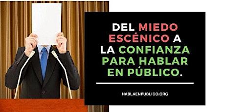 """WEBINAR """"COMO SUPERAR EL MIEDO A HABLAR EN PUBLICO"""" entradas"""