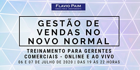 GESTÃO DE VENDAS NO NOVO NORMAL -  ONLINE bilhetes