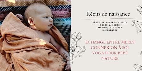 Récits de naissance + Yoga bébé tickets