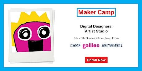 Digital Designers: Artist Studio Camp July 20th-24th (6th & 7th Graders) tickets