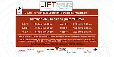 LIFT Business Ethics Certification Program - WEBINAR tickets