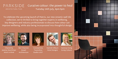 Webinar - Curative colour: the power to heal tickets