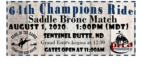 Champions Ride Saddle Bronc Match - Sentinel Butte, ND tickets