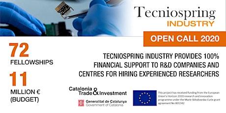 Webinar: Contratos TECNIOspring Industry para proyectos de investigación tickets
