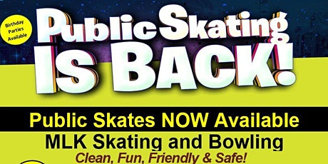 Public Skate at MLK Skating 7/3/20 6:00pm-8:30pm tickets