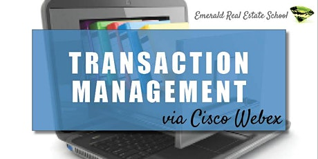 CB Bain | Emerald: Transaction Management (3 CE-WA) | Cisco Webex | Sept 25th 2020 tickets