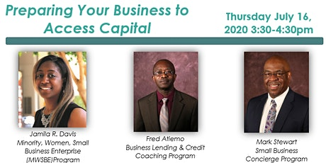 Preparing Your Business to Access Capital tickets