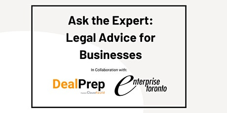 WEBINAR: Legal Advice for Businesses - Founders Agreements tickets