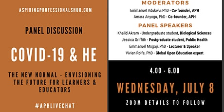 COVID-19 & HE : Envisioning the future for learners and educators tickets