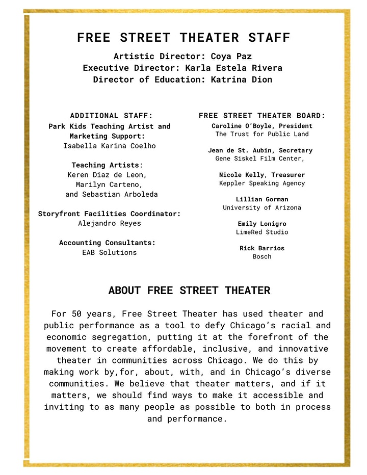 Free Street Theater Presents: WASTED image