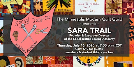 Minneapolis MQG presents Sara Trail of the  Social Justice Sewing Academy tickets