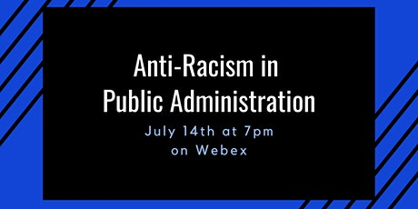 Anti-Racism in Public Administration tickets