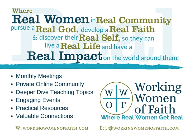Working Women of Faith-Flourish Chapter Launch Event image