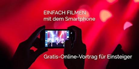 Online-Vortrag: 5  Tipps,  die Deine iPhone-Videos professioneller machen Tickets