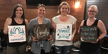 Rustic Sign Painting with DIY Love tickets