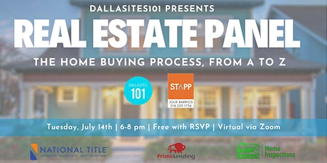 Virtual Real Estate Panel: Homebuying Process, From A to Z tickets
