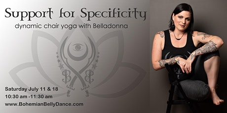 Support for Specificity dynamic chair yoga with Belladonna tickets