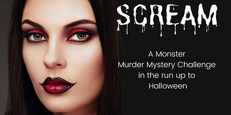 SCREAM - A  virtual murder mystery challenge for Halloween tickets