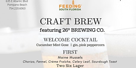 "Summer Chef Series: ""Craft Brew"" Beer Pairing Dinner tickets"