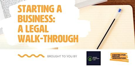 Starting a Business: A Legal Walk-Through tickets
