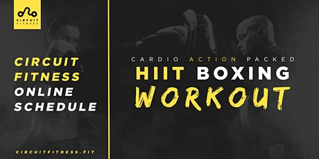 FREE Cardio Action Packed HiiT Boxing Workout Online tickets