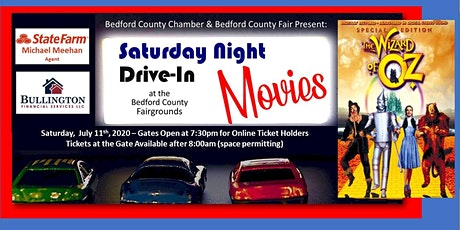 Drive-In Movie: July 11th - Wizard of Oz tickets