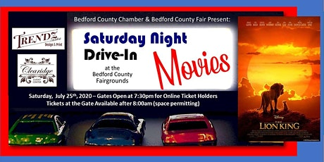 Drive-In Movie: July 25th  - The Lion King (Animated Original) tickets