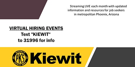 Kiewit Virtual Hiring Events tickets