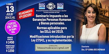 4ta Edición! Seminario  de 3 hs Imp  Gcias Personas Humanas y Bs Personales entradas