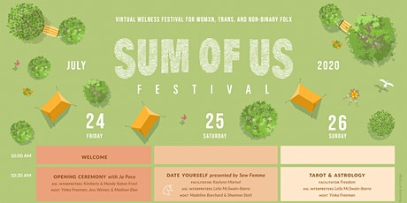 Sum of Us Virtual Festival: Wellness Weekend for Womxn, Trans, & Non-Binary tickets
