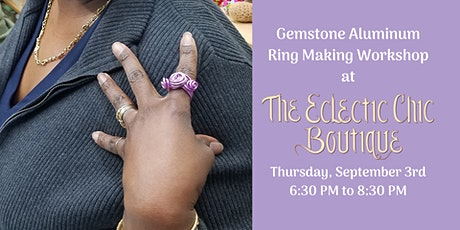 Gemstone Aluminum Ring Making Workshop tickets