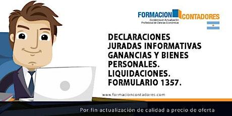 GRABACION DDJJ INFORMATIVAS GANANCIAS Y BIENES PERSONALES. boletos
