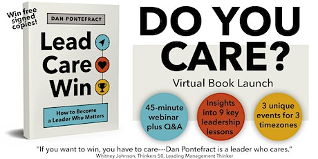 LEAD. CARE. WIN. Virtual Book Launch Webinar: Session 2 of 3 tickets