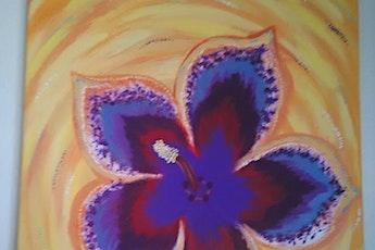 Sip & Paint with Kym Casner(Fun Fine Artist)-Hibiscus flower tickets