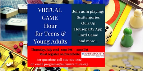 Autism Society VC Virtual Game Hour for Teens and Young Adults tickets