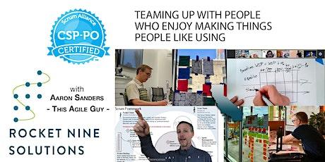 Aaron Sanders|SaltLakeCity-Online|Scrum Professional Product Owner|Dec2020 tickets