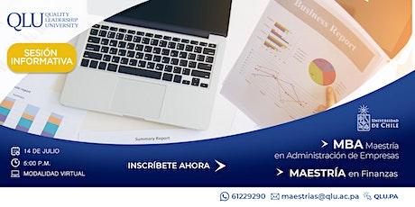 Sesión Virtual: Maestría en Finanzas y Maestría en Adm. de Empresas (MBA) entradas