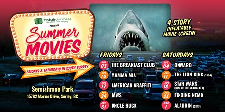 FreshAirCinema presents Jaws (1975) - Jul.24 @ Semiahmoo Park tickets