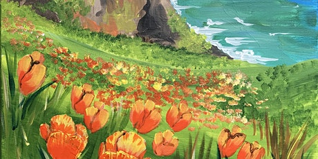Amazing Paint and Sip 'California Poppies' Beautiful Landscape! tickets