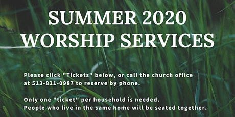 July 12 Worship Service tickets