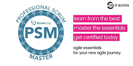 Professional Scrum Master certification (PSM I) course with Scrum.Org tickets